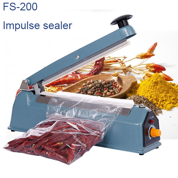 <strong>8 Inch 200 mm Manual Iron Body Impulse Heat Sealer FS-200</strong>