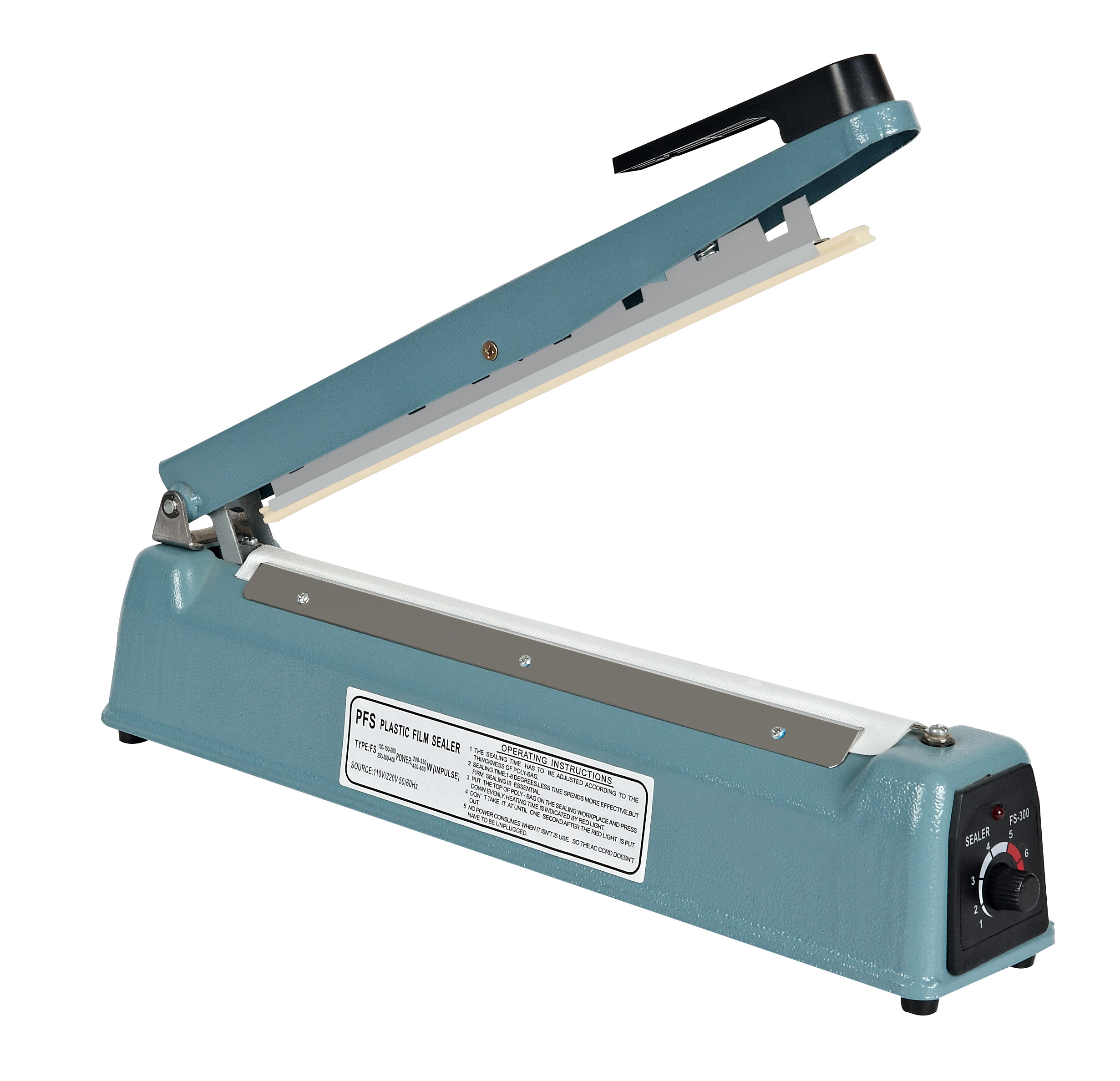 200 mm Impulse Heat Sealing Plastic Bag Closer Sealer FS-200