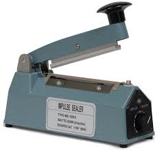 Iron Hand Impulse Sealer With Side Cutter 100mm width FS-100