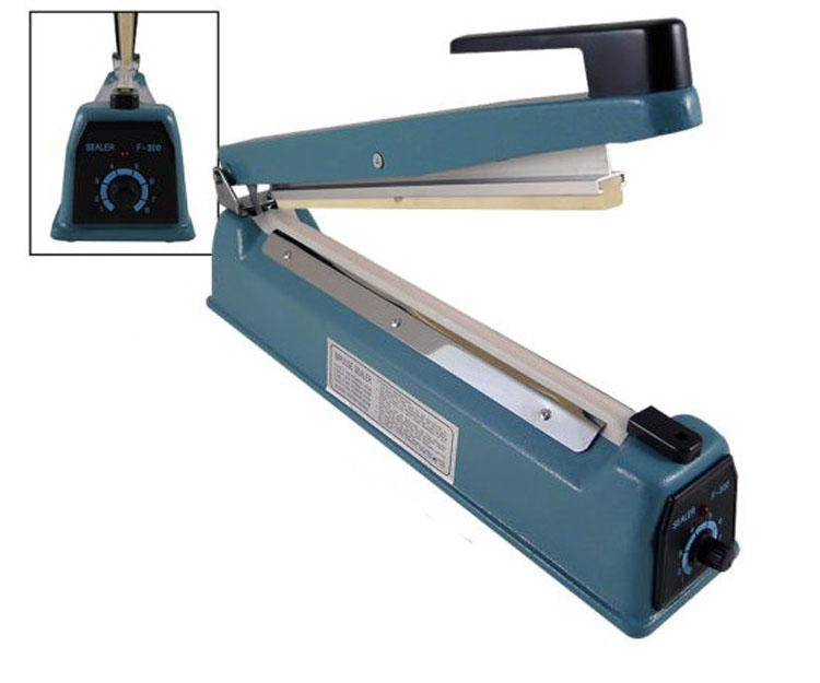 Iron Hand Impulse Sealer With Side Cutter 300mm width FS-300